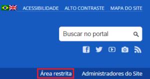 área restrita