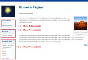 Exemplo de Site